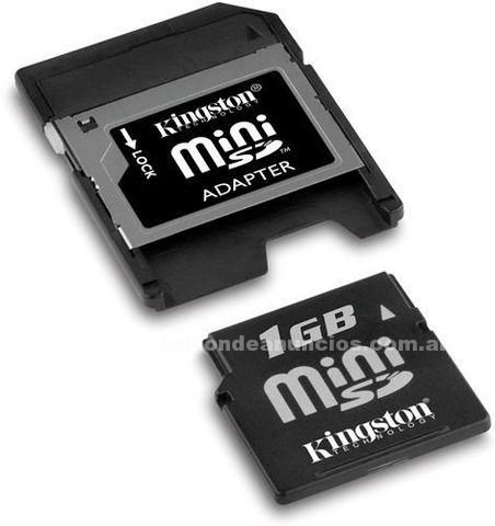Complementos y accesorios: Mini sd kingston 1 gb $25 con garantia originales cerradas con blister
