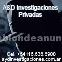 Otros: Detective privado  a&d