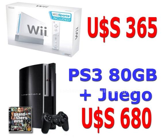 Video Consolas y Juegos: Consolas juegos por mayor y menor - wii u 365 / ps3+juego u 680