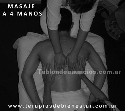 Salud/Belleza: Masaje a 4 manos