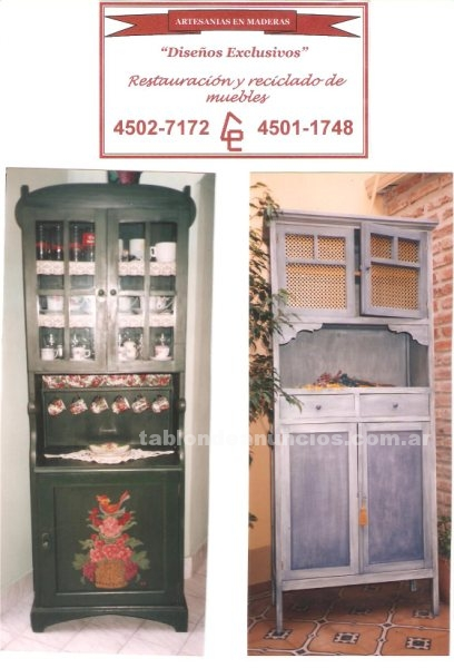 Muebles/Decoración: Confianos tus antiguos muebles....nosotras podemos recuperar tu pasado familiar...consultanos