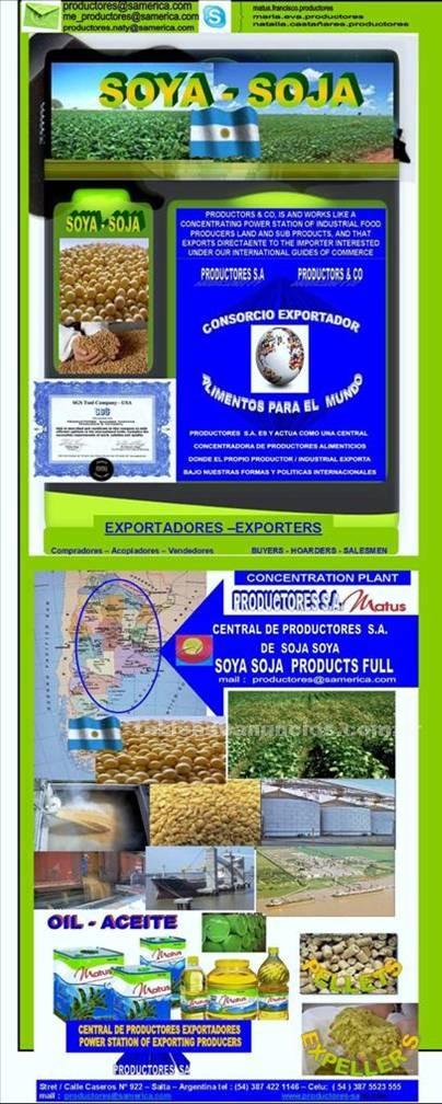 Productos y excedentes: Vendo soya - soja y girasol