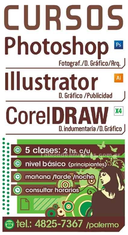 Clases particulares: Curso photoshop cs5 corel draw x5 illustrator cs5 $260 c/uno /clases particulares