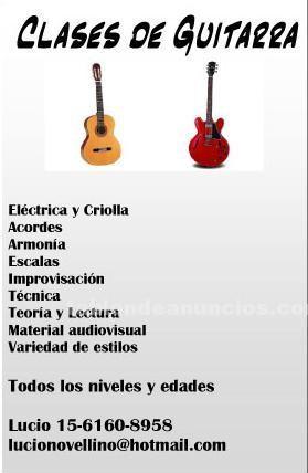 Clases particulares: Clases de guitarra - villa urquiza / pque chas / paternal / belgrano / balvanera