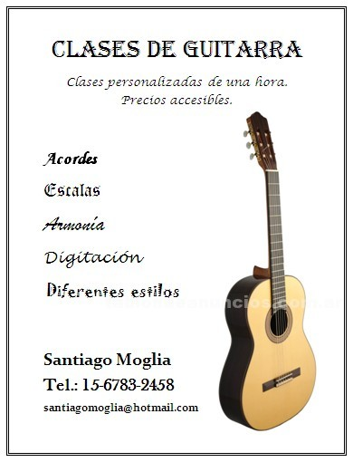 Formacion/cursos: Clases de guitarra en quilmes