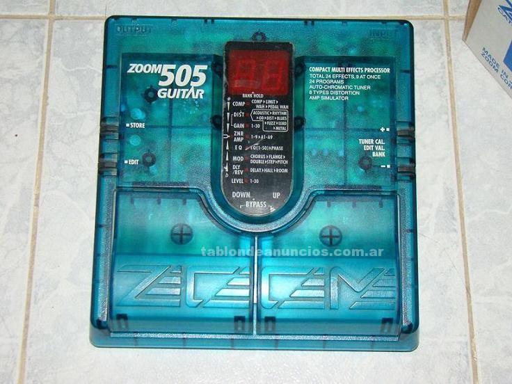 Instrumentos musicales/Músicos: Vendo pedalera zoom 505 japonesa
