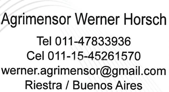 Otros: Agrimensor werner horsch