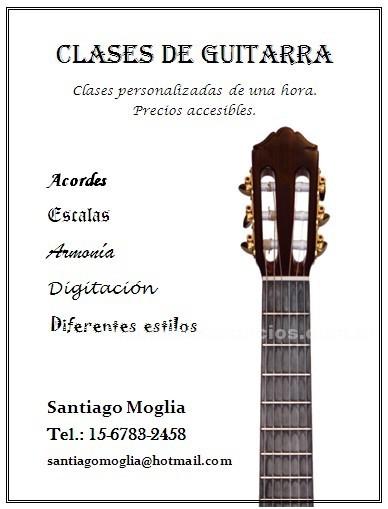 Clases particulares: Clases de guitarra eléctrica en quilmes