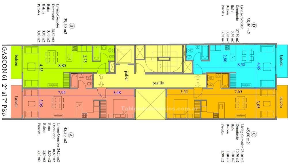Compra venta departamentos: Departamento en venta - gascón al 61, almagro - us$ 73.000 - 1 ambiente