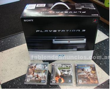 Juegos y maquetas: New sony playstation 3 60gb / 2 controllers & 3 games