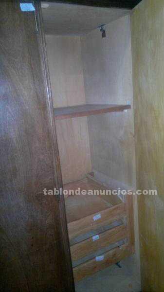 Muebles/Decoración: Vendo placard de madera desarmable 8 puertas