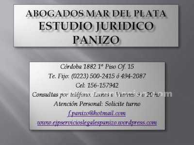 Abogados/Asesores: Abogados mar del plata - e j p servicios legales panizo