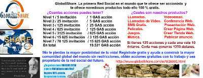 Ganar dinero en la red: Globallshare - the real social network