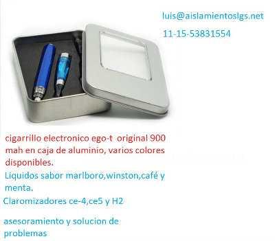 Coleccionismo: Cigarrillo electronico ego t en estuche de aluminio kit completo